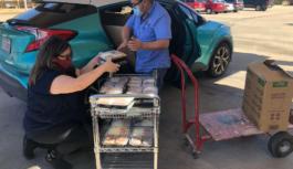 """""""雪中送炭"""" – SPA Donated Meals to Senior Living Center"""